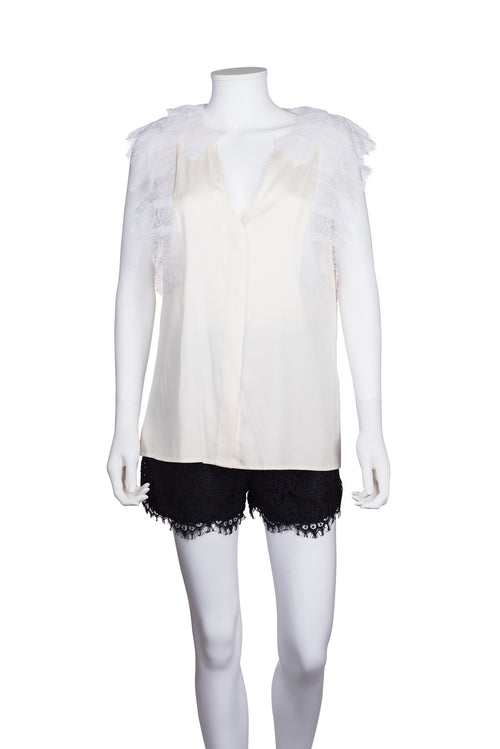 VALENTINO ROMA Sleeveless Lace Top