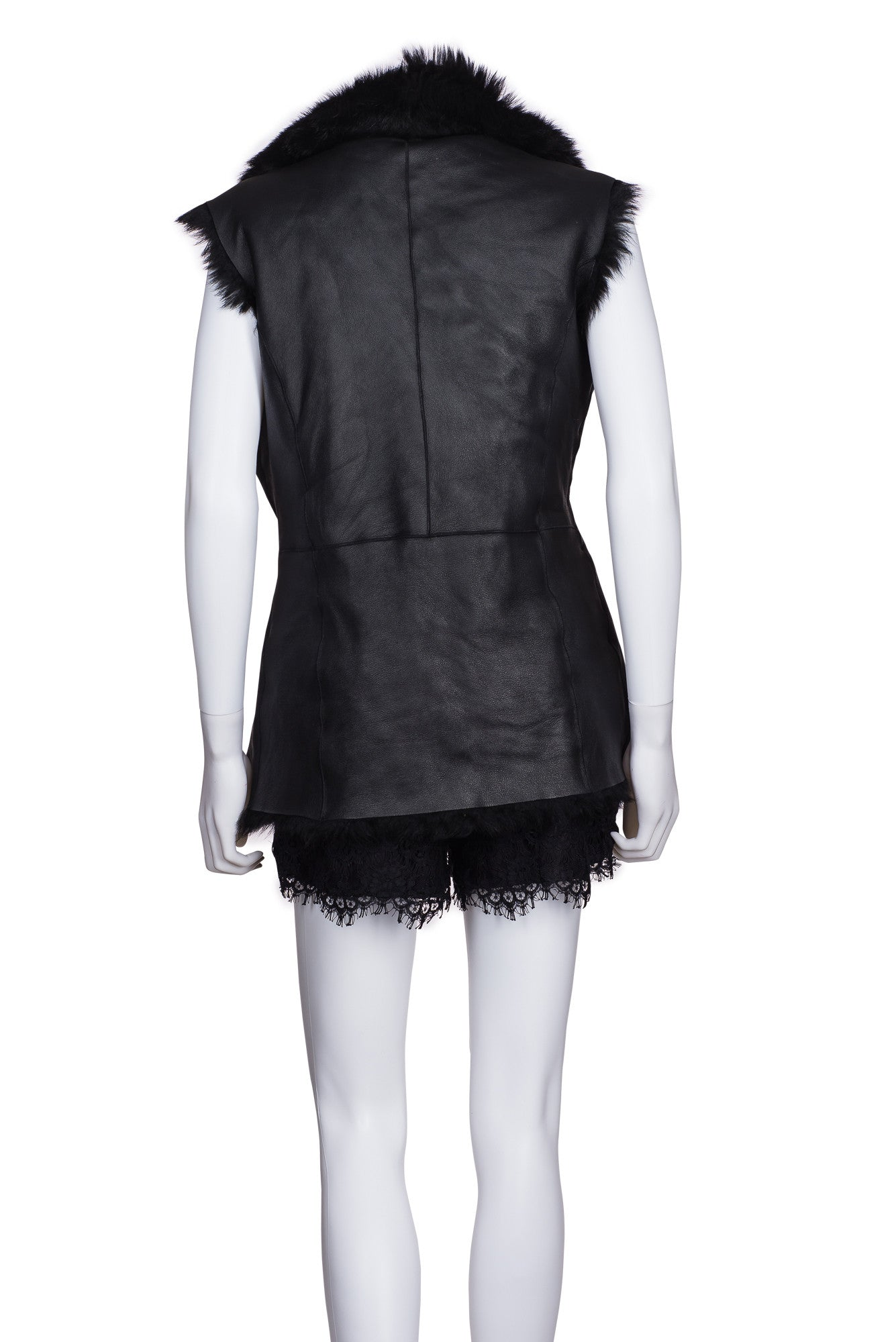 L.K. BENNETT Reversible Sheep Skin Leather Vest