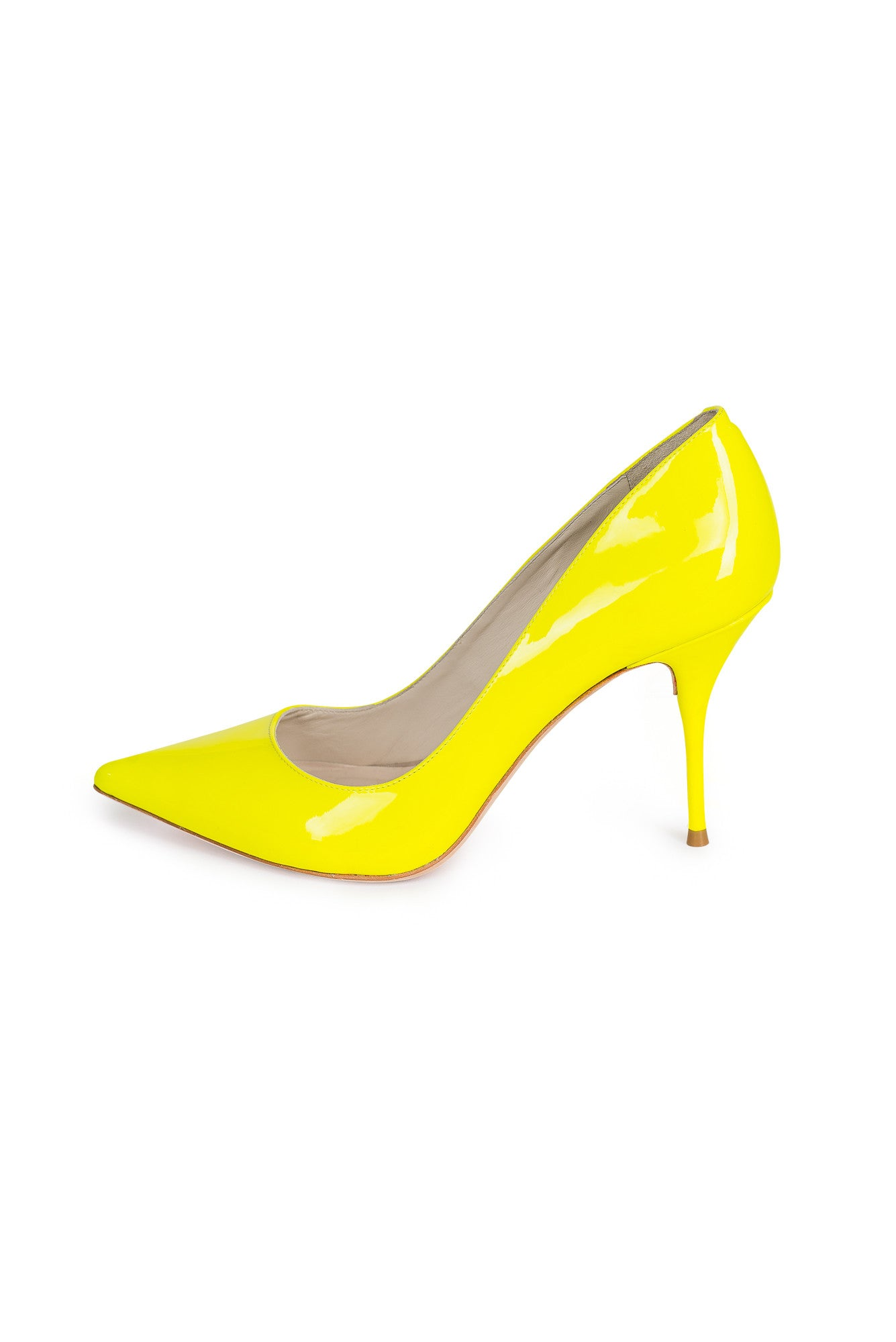 SOPHIA WEBSTER Lola Neon Patent Leather Pumps