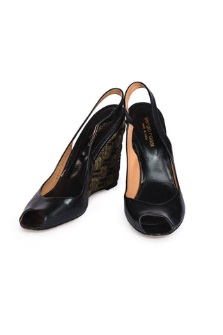 CHRISTIAN DIOR Patent Leather Ballet Flats