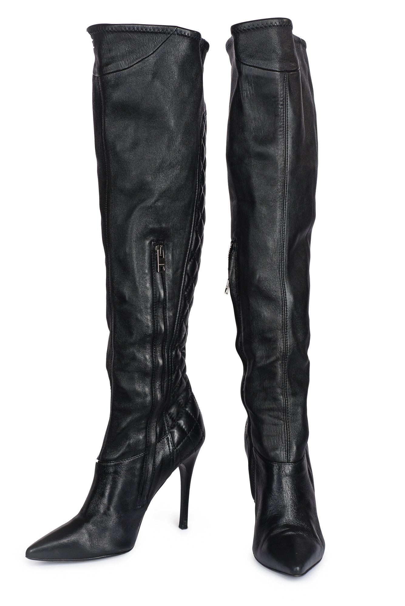 a1b0518fa30 BURBERRY Over The Knee Leather Boots – FashionXC