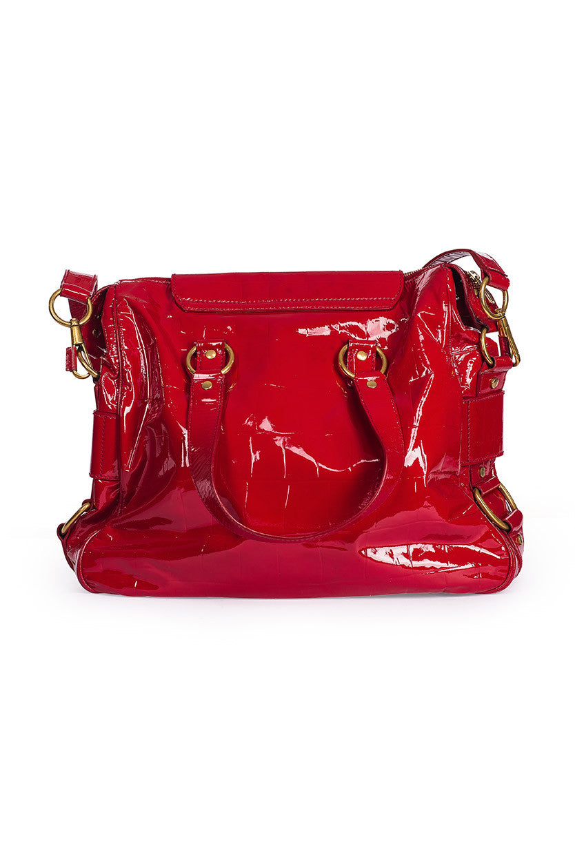 YVES SAINT LAURENT Patent Muse Shoulder Bag