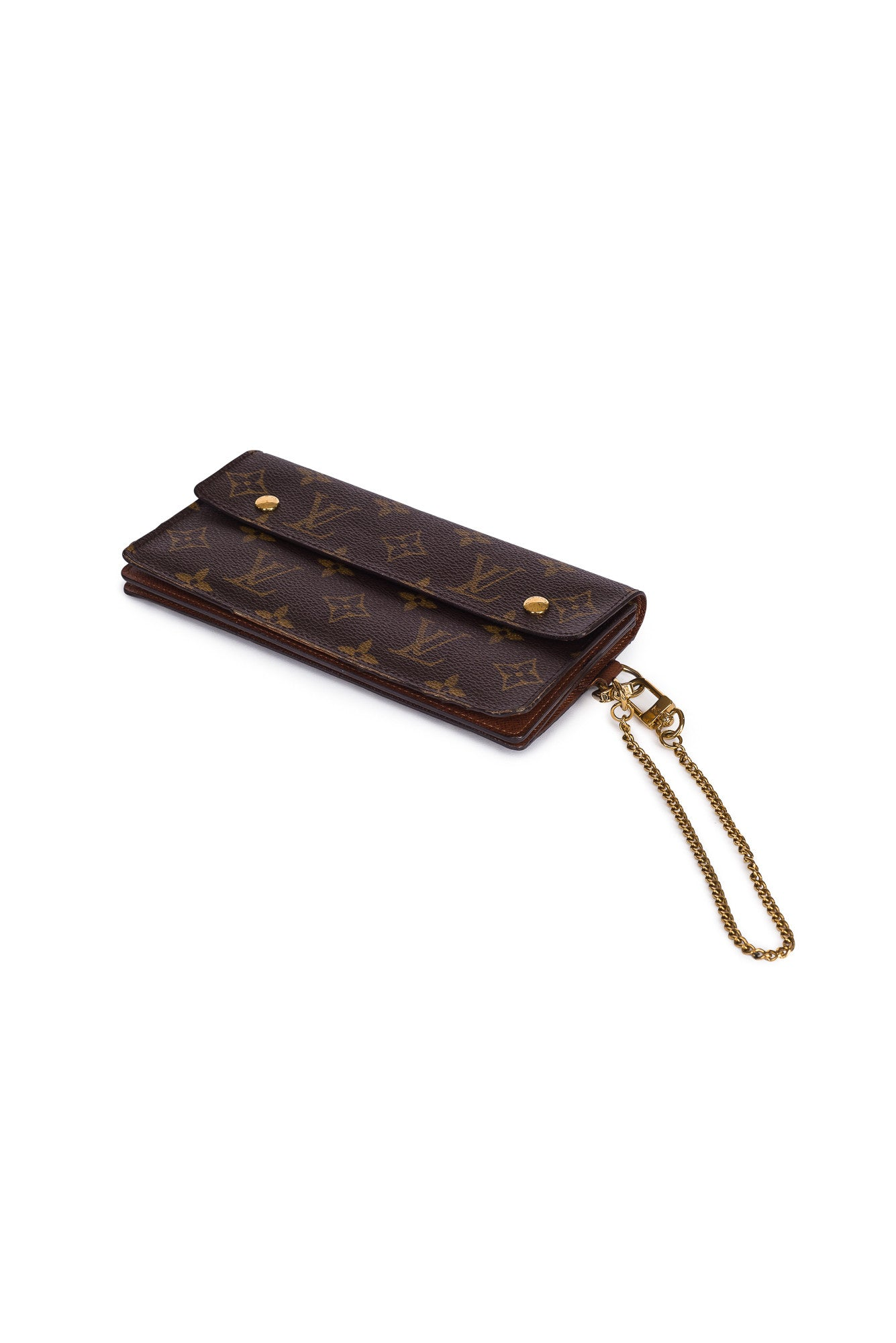 LOUIS VUITTON Portefeiulle Akorudion Monogram  Bifold Long Wallet
