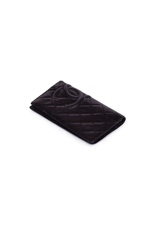 CHANEL Cambon Quilted Wallet