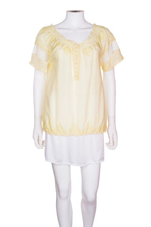 JOIE Lace Embroidered Top