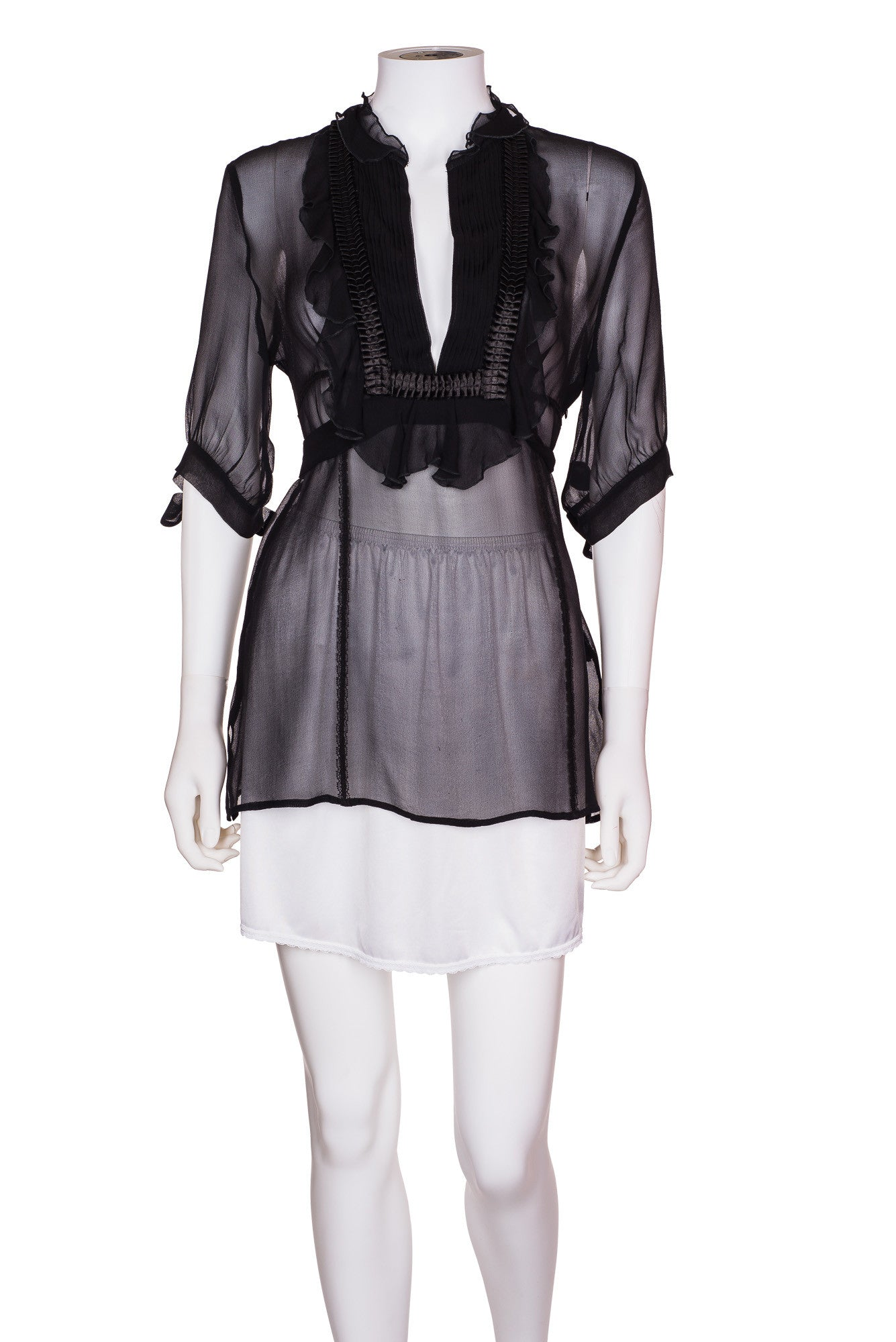 KAREN MILLEN Sheer Blouse
