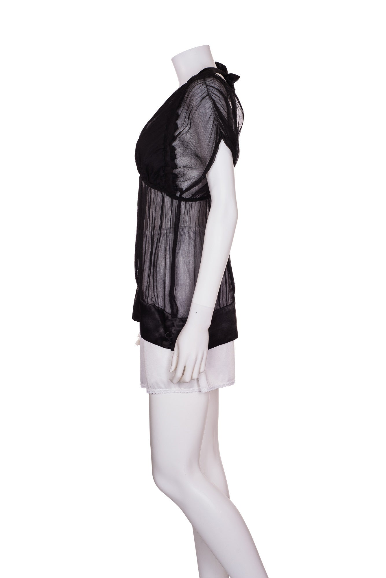 Diane Von Fürstenberg Sheer Silk Top