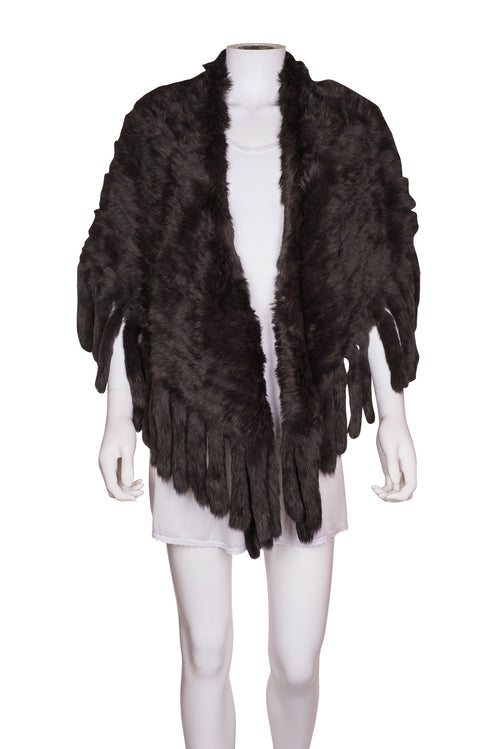 YVES SOLOMON Fur Shawl
