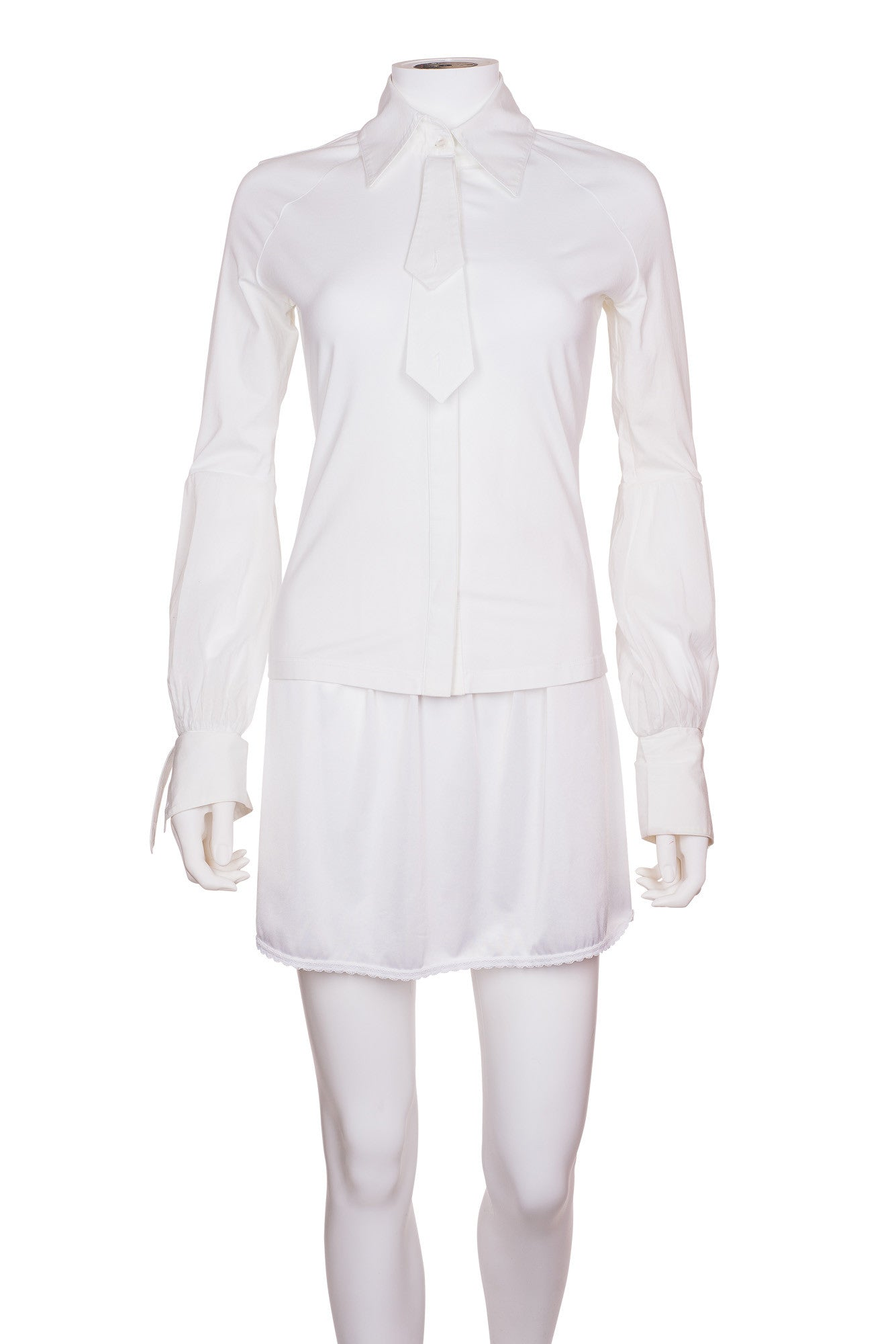 ANNE FONTAINE Tie Embellished Long Sleeve Shirt