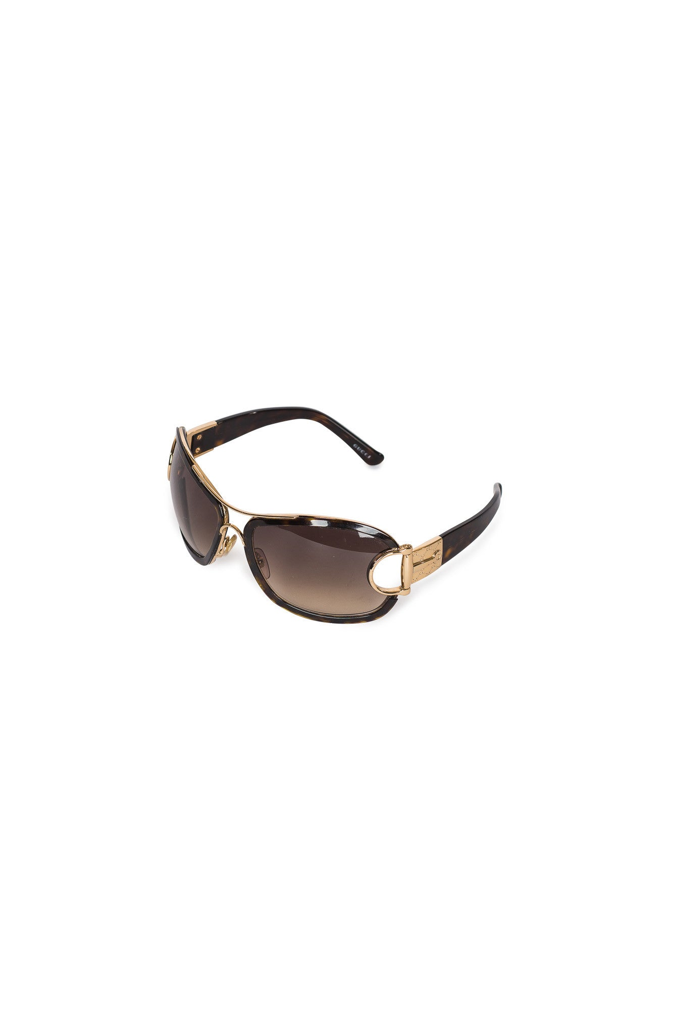 GUCCI Horsebit Aviator Sunglasses