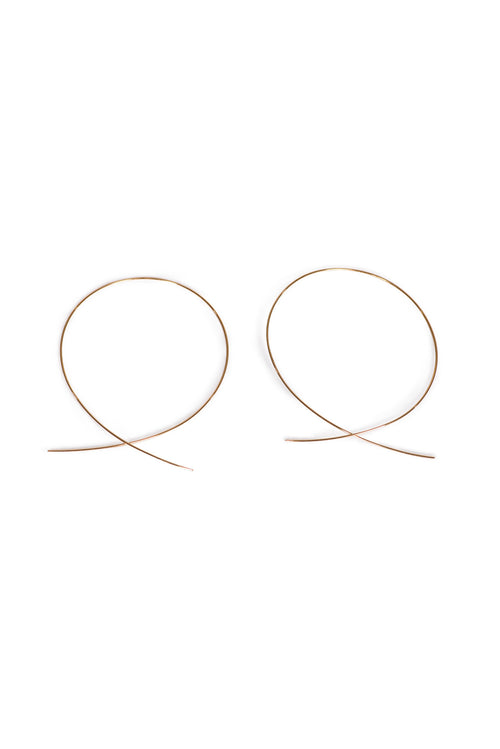 NORDSTROM GOLD HOOP EARRINGS