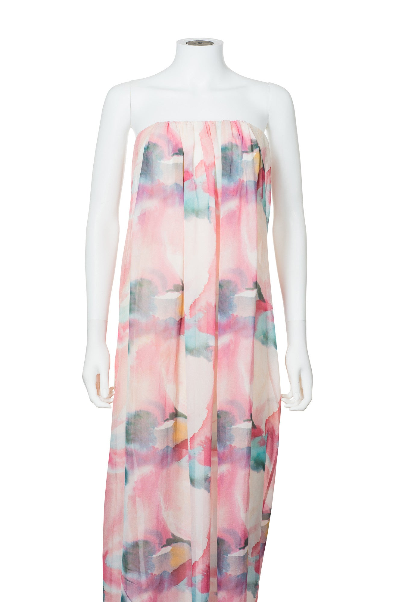 Alice + Olivia Long Floral Strapless Dress