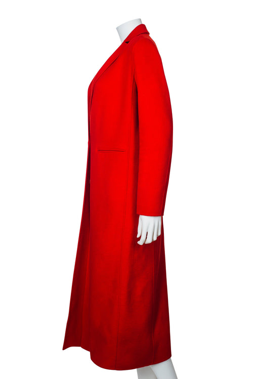 Maje Red Long Duster Coat
