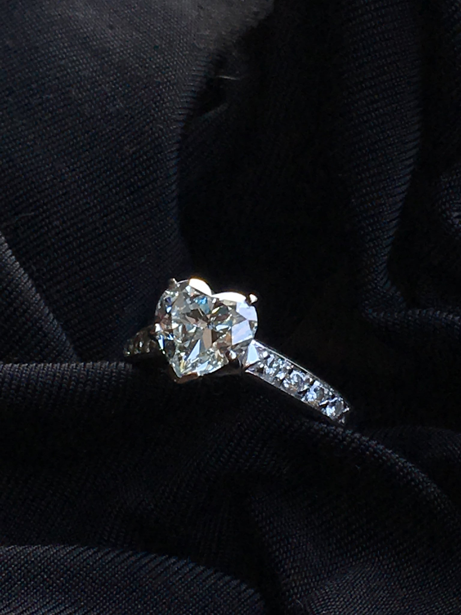 1.83 Ct Solitaire Heart Diamond Engagement Ring