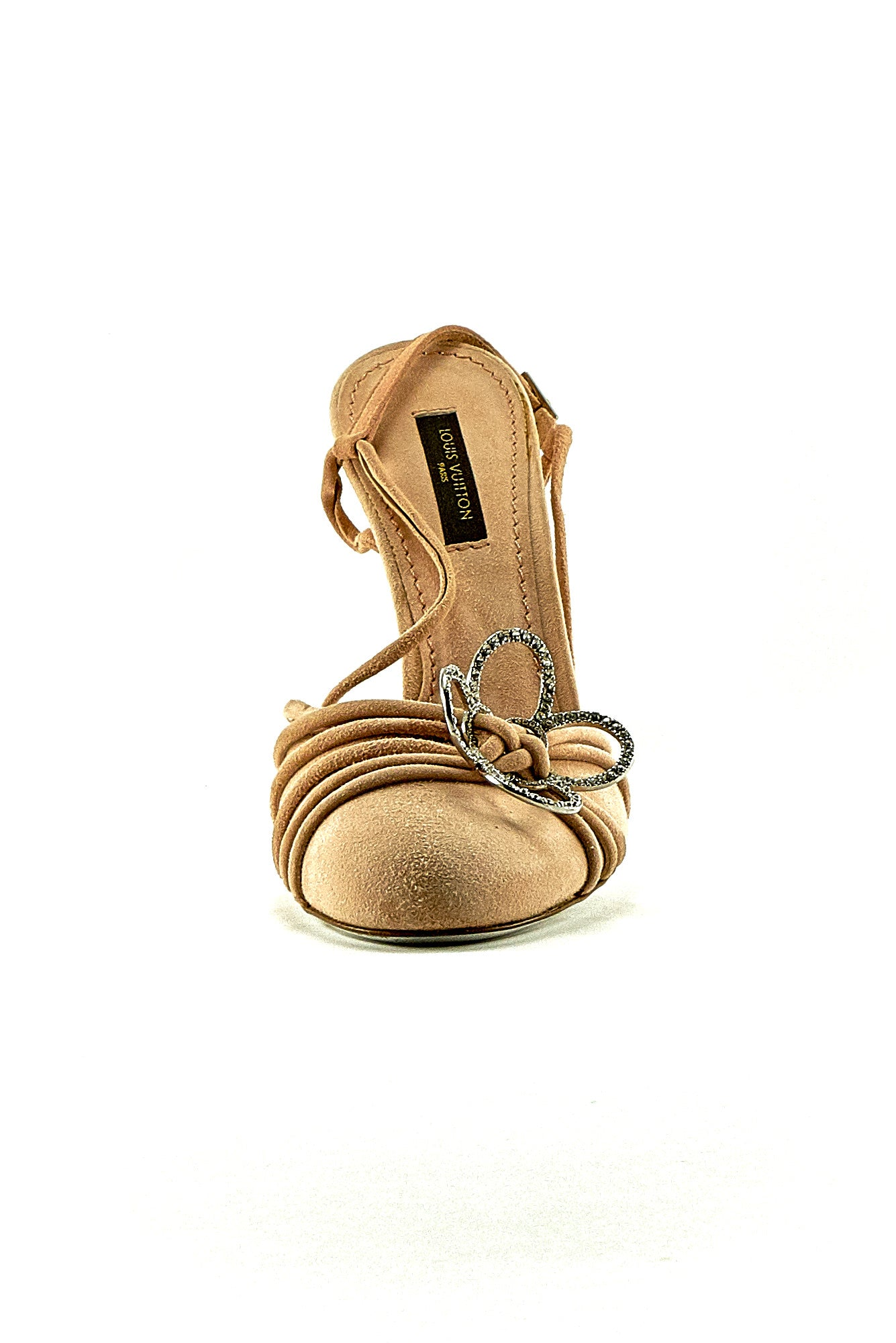 LOUIS VUITTON SUEDE SLING BACK SANDALS