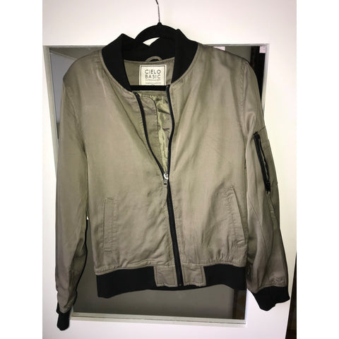 Cielo Olive Street Style Woven Bomber Jacket
