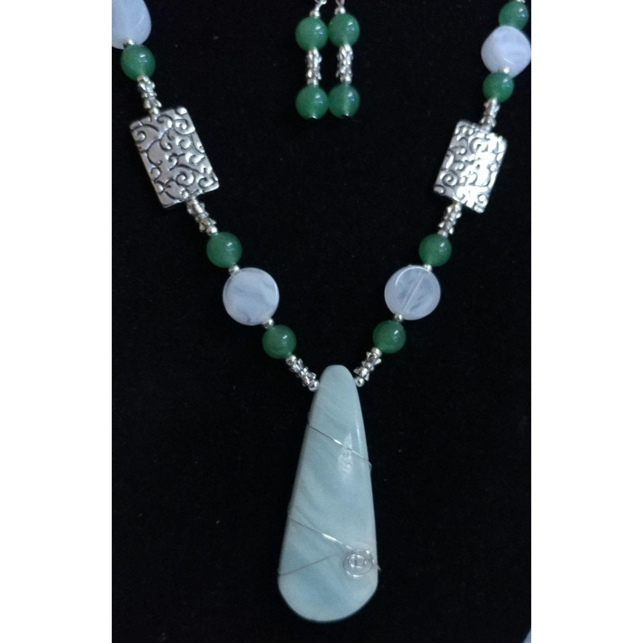 Multi-Color Amazonite with Agate and Vintage and Silver