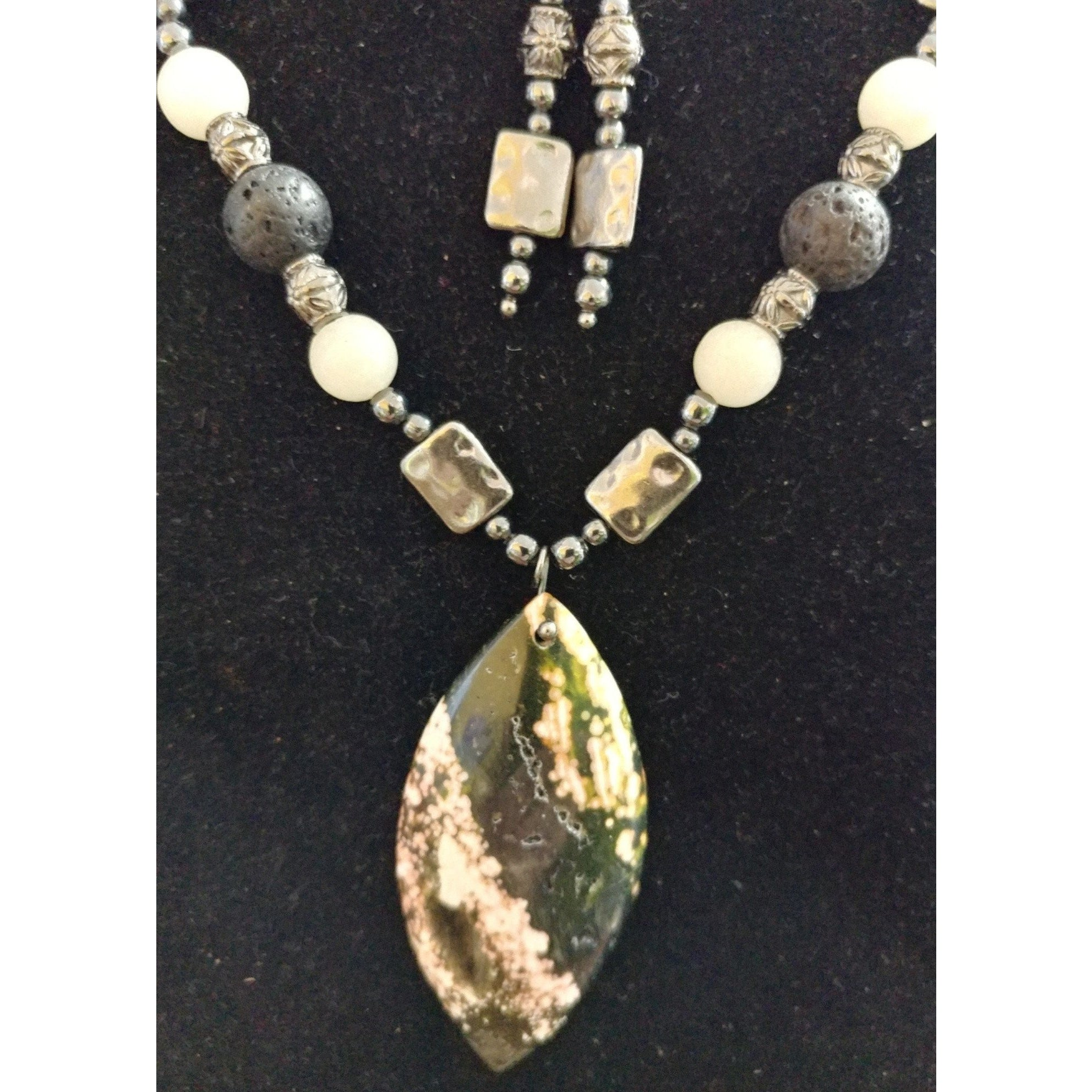 Ocean Jasper with Lava and Quartz and Gunmetal