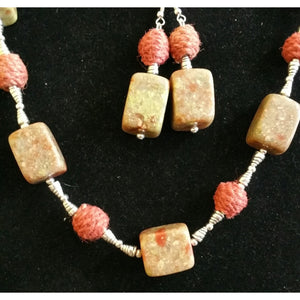 Autumn Jasper with Yarn and Silver