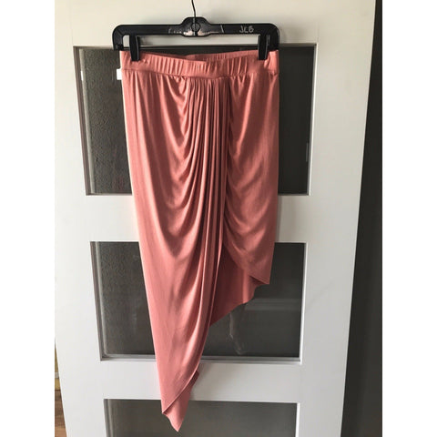 Rust Hi Lo Maxi Mini Skirt