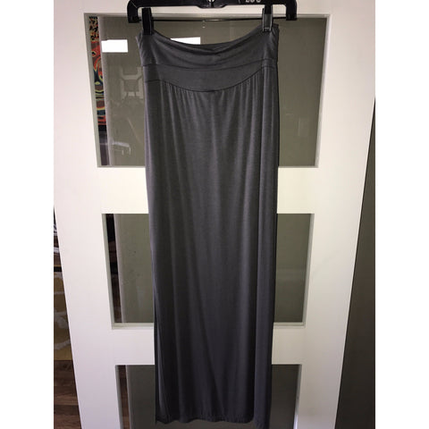 Charcoal Roll Over Skirt