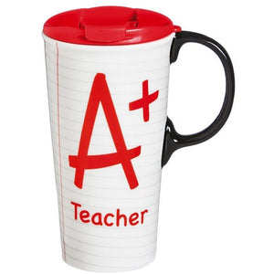A+ Teacher Notebook Paper Ceramic Perfect Cup