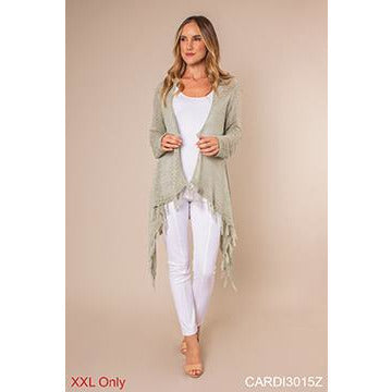 Indie Fringe Cardigan-Plus Sizes