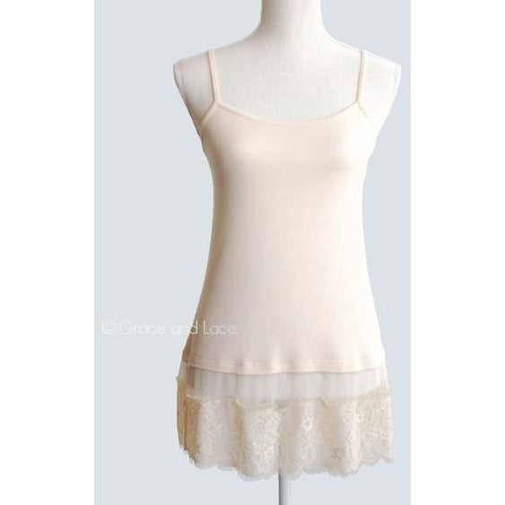 Cream Chantilly Lace Top Extender