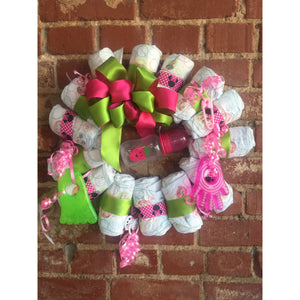 Watermelon Diaper Wreath