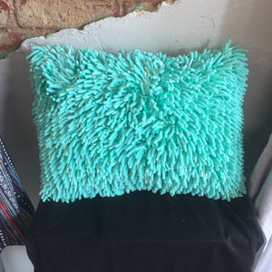 Teal Noodle Pillow