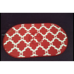 Red Pawprint Dog Placemat