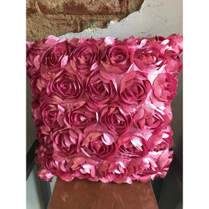 Pink Rose Pillow