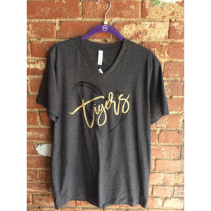 Broken Arrow Tiger T-shirt with Heart