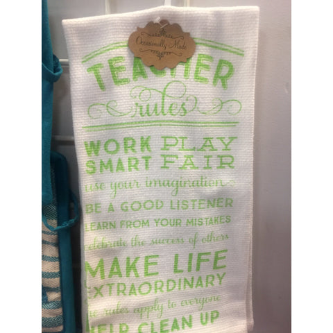 """Teacher"" Kitchen Towels"