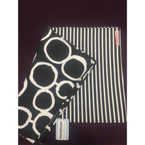 Set of blk/white circles/stripes - Placemats