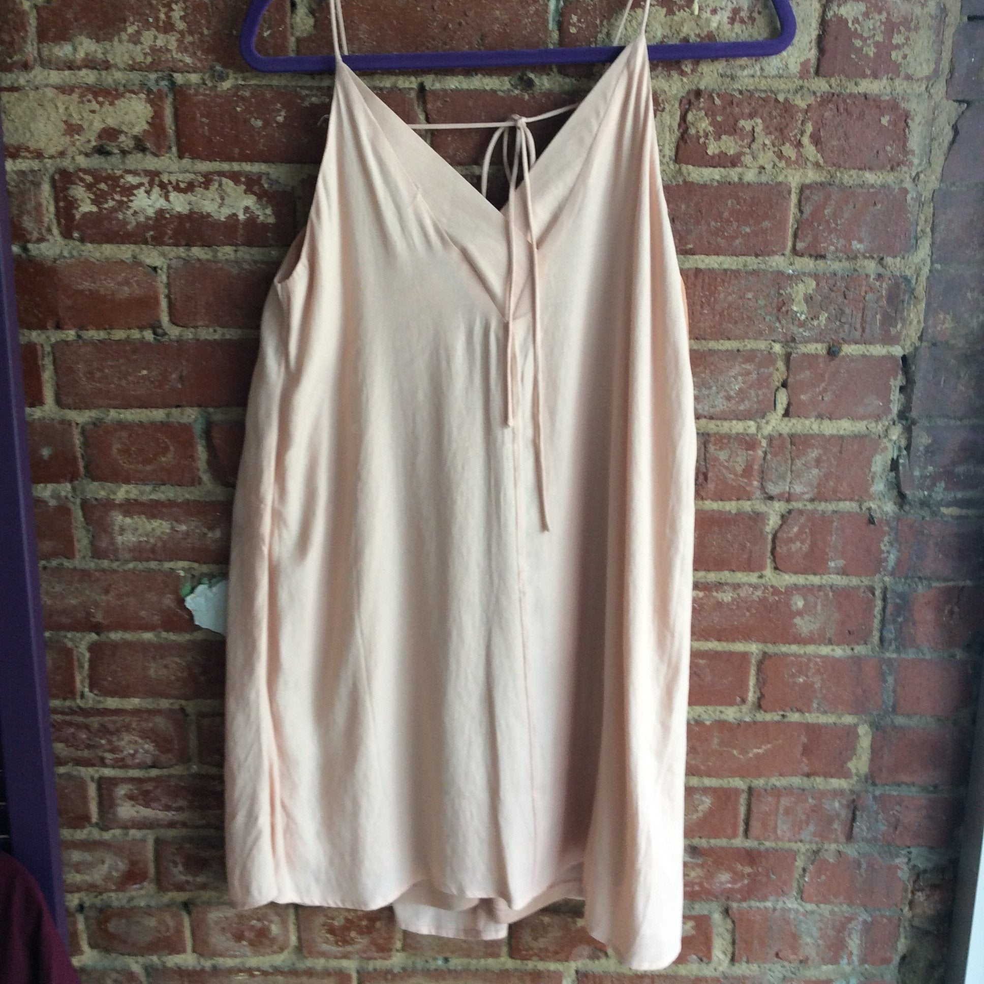 Blush Vneck Halter Tie Shift Dress