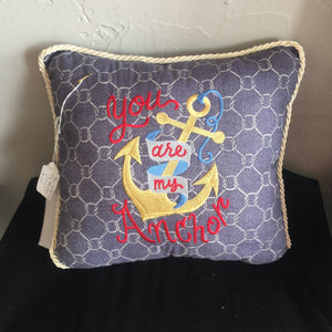 """You are my anchor"" Pillow"
