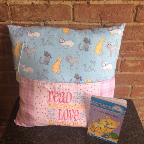 Kiss Me Goodnight Cats - Bedtime Story Pillow with Matching Story Book