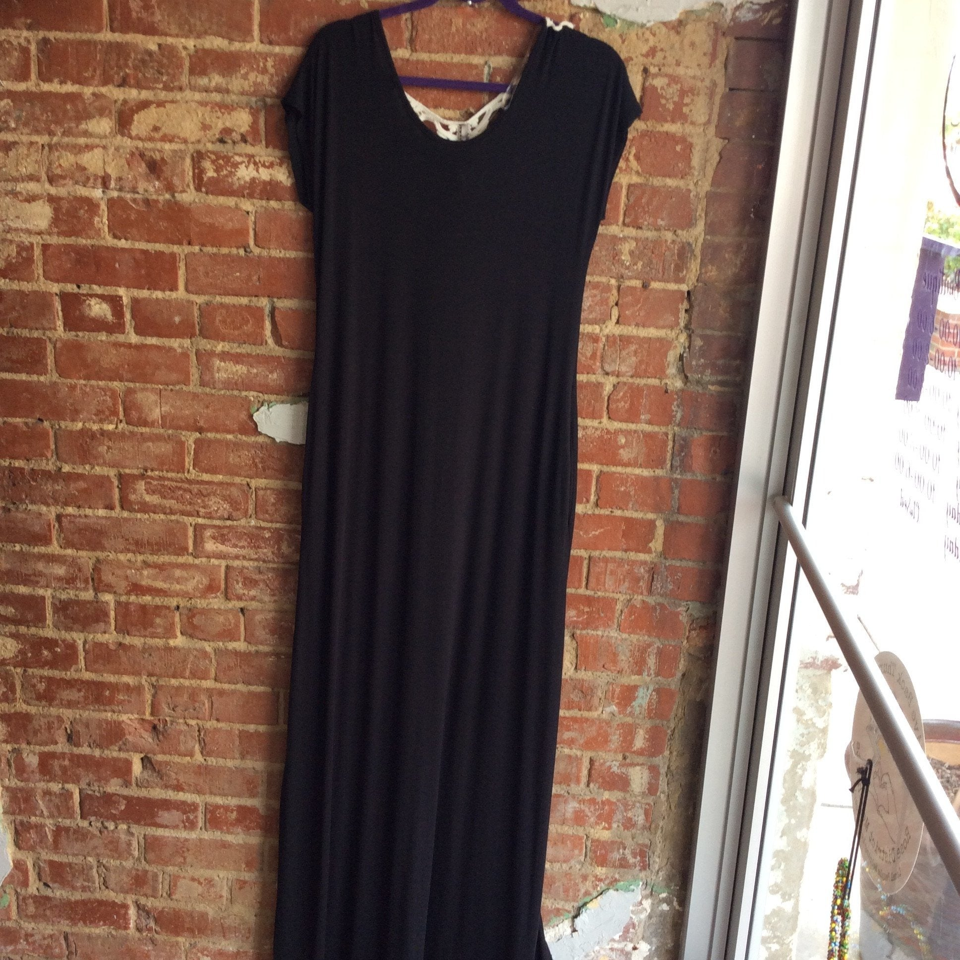 Crochet Back Maxi with Pockets