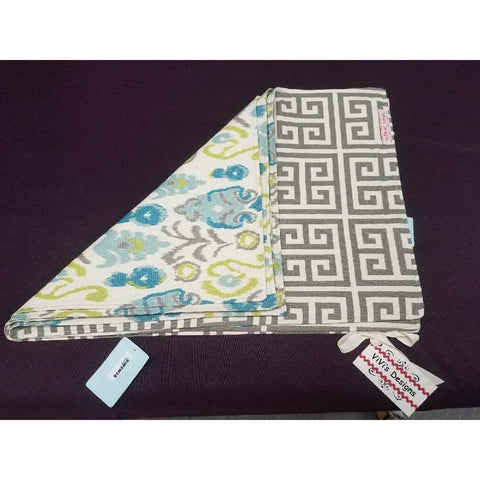 Gray & Greek Key; Turquoise Placemats