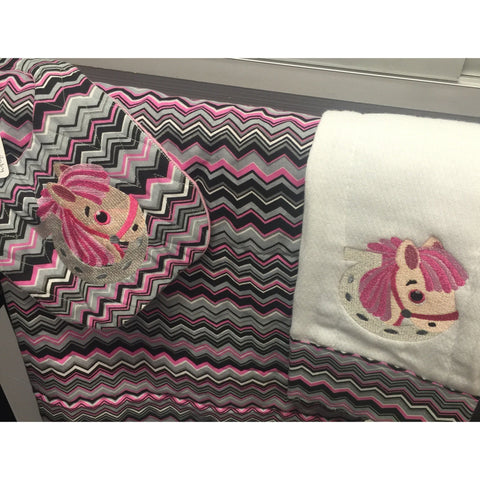 Horse Blanket, Bib, and Burp Cloth Bundle