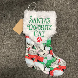Santa's Favorite Cat Stocking