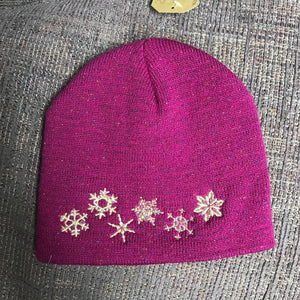 Berry Bright Snowflake Beanie