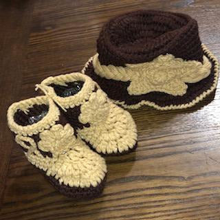 Crocheted Cowboy Outfit