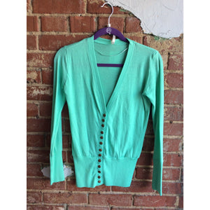 Mint Button Up Cardigan