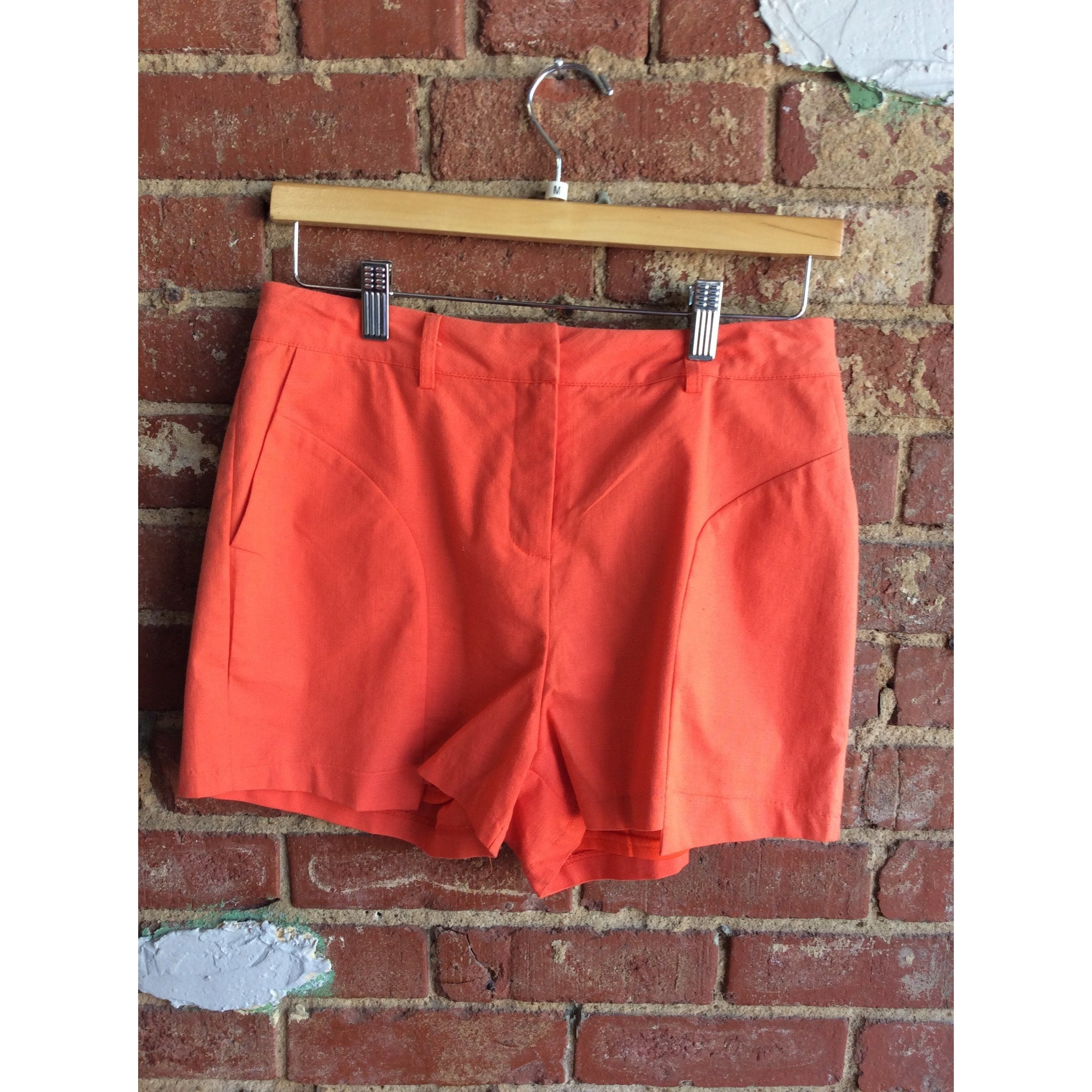 Rust Tailored Shorts