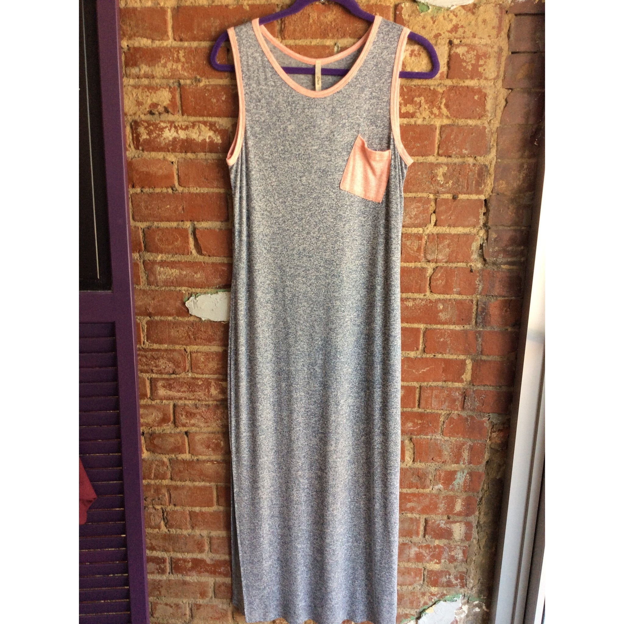 Silver Colorblock Pocket Maxi