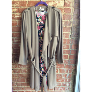 Taupe Lightweight Trench Coat