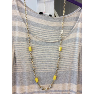 Yellow & Gray Necklace