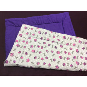 Medium Pink Paw & Bone Crate Pad